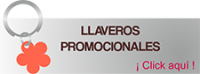 Llaveros y pines promocionales